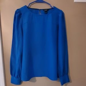 Royal Blue J. Crew Blouse Small